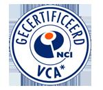 Wij zijn VCA gecertificeerd!